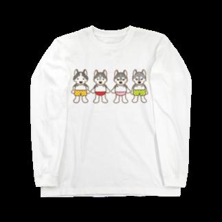 HUS×HUSのおパンツハスキー4 Long sleeve T-shirts