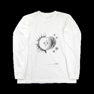 morinishiの太陽と月café Long sleeve T-shirts