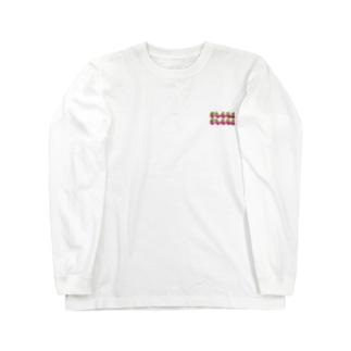 渋ロゴ ピンク×ライトグリーン Long sleeve T-shirts