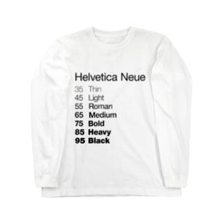 Helvetica Neue Long sleeve T-shirts