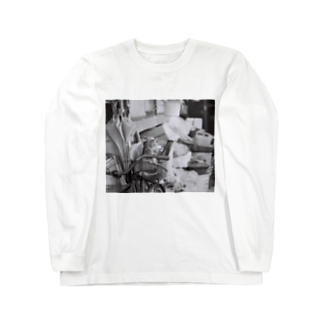 kio photo worksのcat in bicycle Long sleeve T-shirts