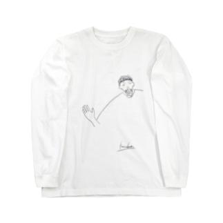 幸男くんの肩幅 Long sleeve T-shirts