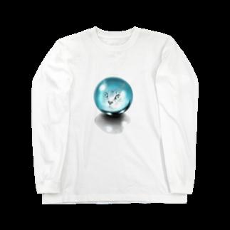 TAKUMの水晶と猫 Long sleeve T-shirts