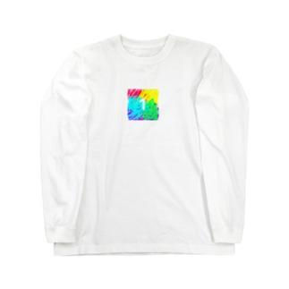 虹色とワン Long sleeve T-shirts
