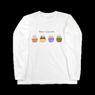 Myo's handmadeのBear Cupcake Long sleeve T-shirts
