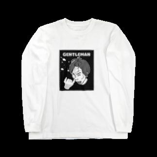 うさぎまるえkawaiishop のほじほじリアル『男』 Long sleeve T-shirts