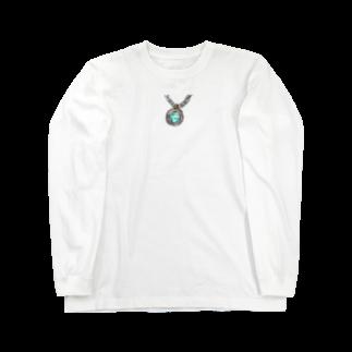 魚風商店の涼やかネックレス Long sleeve T-shirts