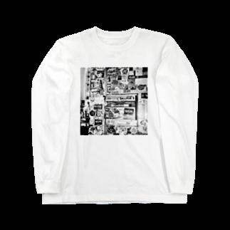 kio photo worksのShibuya wall photo Long sleeve T-shirts