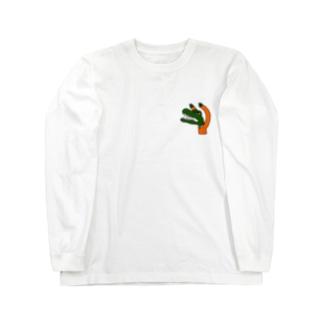 怒るワニ Long sleeve T-shirts