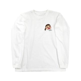 変な顔の娘 Long sleeve T-shirts