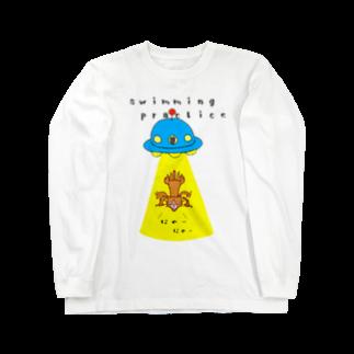 ひよこねこ ショップ 1号店のUFO Long sleeve T-shirts