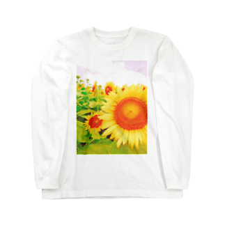 manamiのひまわり Long sleeve T-shirts