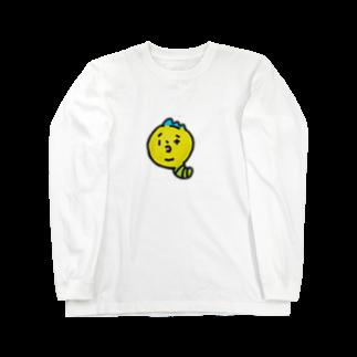 チコナオンのモヒカンイモムシくん Long sleeve T-shirts