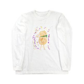 manamanawaruのオレンジワルビロ Long sleeve T-shirts