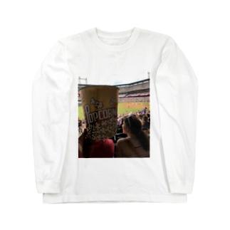 アメリカのポップコーン Long sleeve T-shirts