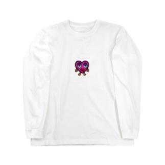 ハート Long sleeve T-shirts