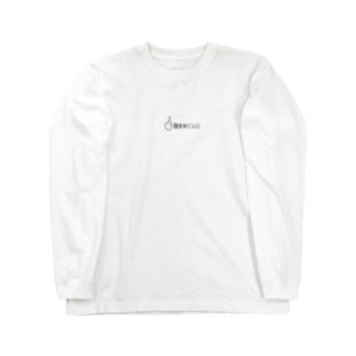 徹夜明けフェイス Long sleeve T-shirts