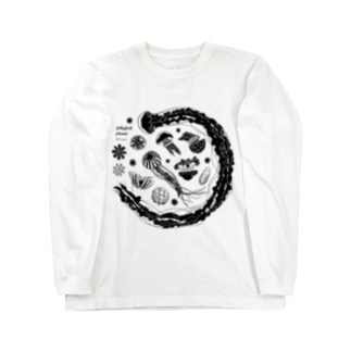 Hi*roomのJellyfish planet(クラゲの惑星) Long sleeve T-shirts