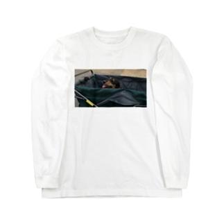イヌもナツバテ Long sleeve T-shirts
