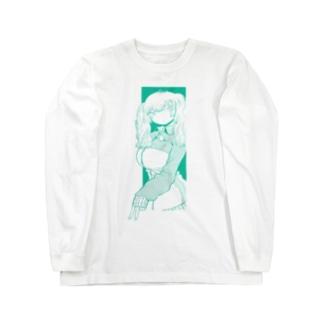 ふわふわピース Long sleeve T-shirts