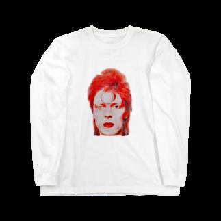 AngelRabbitsのデヴィッドボウイ Long sleeve T-shirts