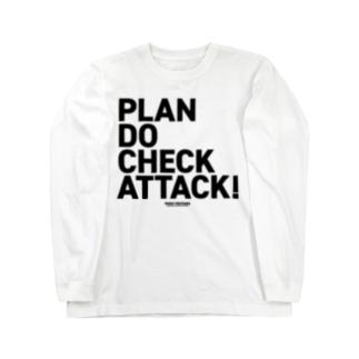 PDCA 白 Long sleeve T-shirts