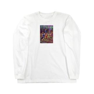 犬みたいな猿Tシャツ Long sleeve T-shirts