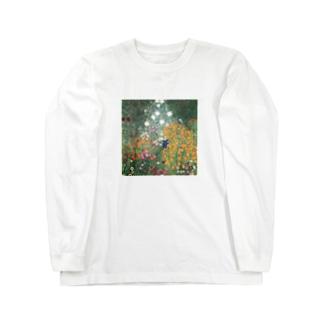 グスタフ・クリムト / 1907 /Flower Garden / Gustav Klimt Long sleeve T-shirts