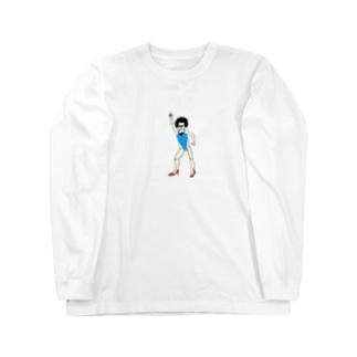 レオタードアフロくん Long sleeve T-shirts