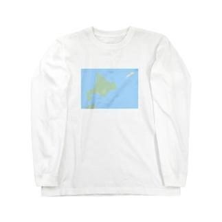 抽象化された北海道先輩 Long sleeve T-shirts