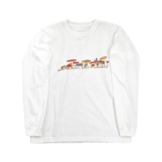 きのこパレード Long sleeve T-shirts