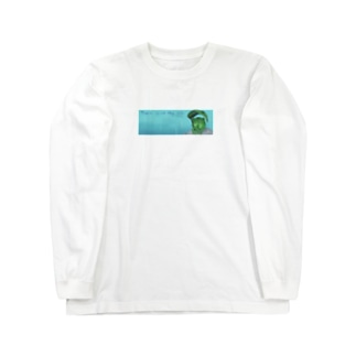 雨宿りカエル Long sleeve T-shirts