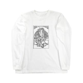 ミュシャ / 1897 /Coverage for the volume of grandmothers Songs / Alphonse Mucha Long sleeve T-shirts