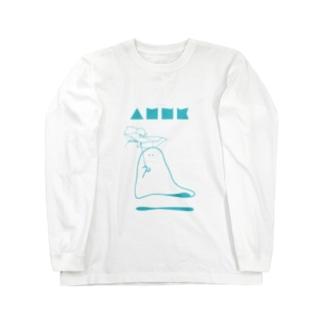 雨宿りおばけ Long sleeve T-shirts