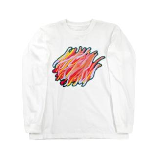 炎のoil Long sleeve T-shirts