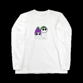 930kasumiの野菜ネコ Long sleeve T-shirts