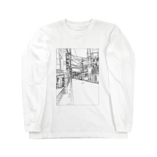 えきまえ Long sleeve T-shirts