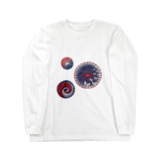 【日本レトロ#15】和傘 Long sleeve T-shirts