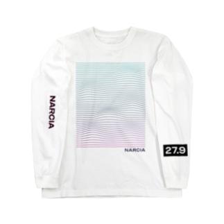 Mountains ロンT 表裏両袖 / 白のみ Long sleeve T-shirts