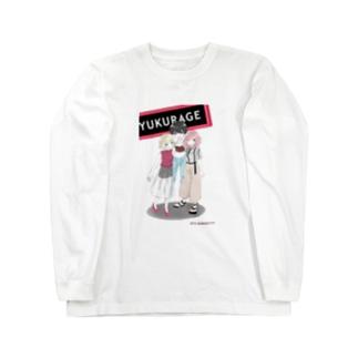 遊海月シャツ Long sleeve T-shirts