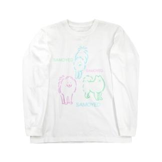 SAMOYED いぬ サモエド Long sleeve T-shirts