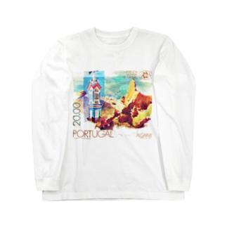 ポルトガルの切手:アルガルヴェ Long sleeve T-shirts