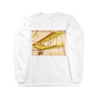 ポーランドの切手:航空郵便 Long sleeve T-shirts