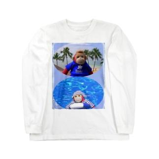 ジョニー君inハワイ Long sleeve T-shirts