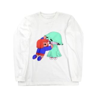 幽霊と女の子 Long sleeve T-shirts