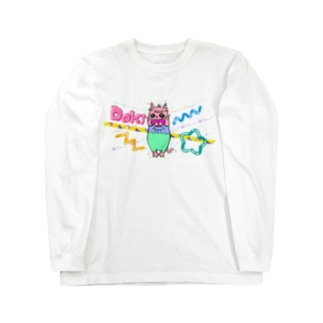Dokiっとキャット(ピンク)  Long sleeve T-shirts