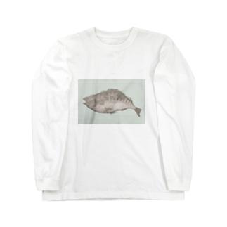 魚A(カラー) Long sleeve T-shirts