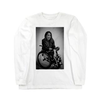 白黒で笑ってるよシリーズ Long sleeve T-shirts