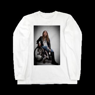 中嶋涼子の車椅子ですがなにか?!のロゴなしシリーズ Long sleeve T-shirts