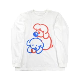 トイプードル家族 Long sleeve T-shirts